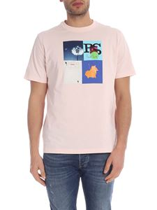 PS by Paul Smith - T-shirt Leaf Collage rosa