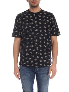PS by Paul Smith - T-shirt Fox Tail Palm blu scuro
