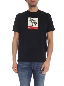 PS by Paul Smith - Zebra printed T-shirt in black