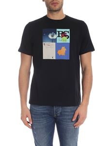 PS by Paul Smith - T-shirt Leaf Collage nera
