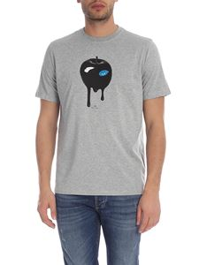 PS by Paul Smith - T-shirt Freddie And The Giant Apple grigia melange