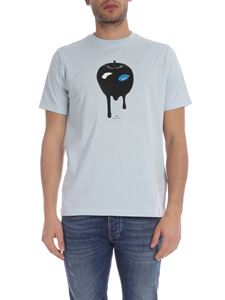 PS by Paul Smith - T-shirt Freddie And The Giant Apple azzurra