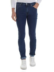 PT05 - Blue stretch cotton jeans with logo