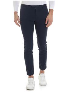 PT01 - Blue trousers with side slash pockets