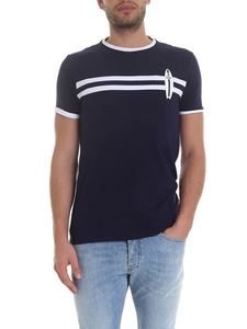 Karl Lagerfeld - Surf T-shirt in blue with white details