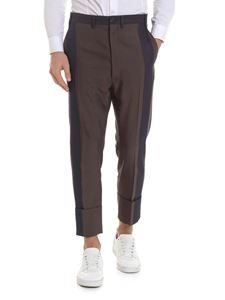 Vivienne Westwood  - Linen blend trousers in brown and blue