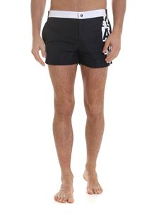 Karl Lagerfeld Beachwear - Boxer swimsuit in black and white