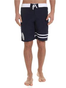 Karl Lagerfeld Beachwear - Surf boxer swimsuit in blue