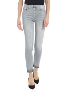 7 For All Mankind - High Waist Pyper Crop Jeans in gray