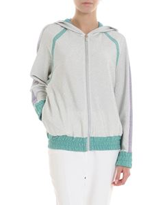 Blugirl - Hooded sweatshirt in silver lamé
