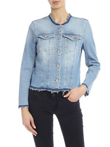 7 For All Mankind - Giacca Luxe Vintage Monterey in denim azzurra
