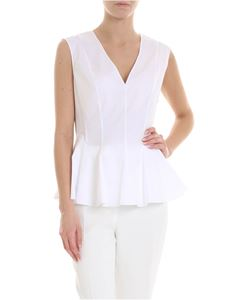 Theory - Peplum top in white