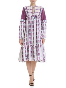 DODO BAR OR - Miguel dress in  white and purple