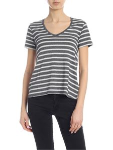 Majestic Filatures - Striped T-shirt in shades of grey