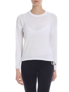 Peserico - White pullover with drawstring