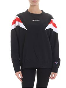 Champion - Sweatshirt in black with logo embroidery
