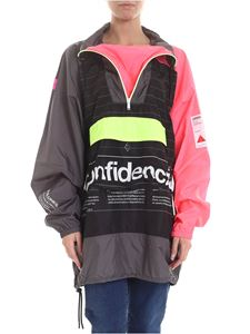 Marcelo Burlon - Confidential jacket in black and neon pink
