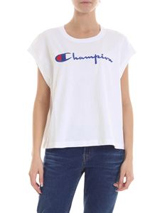 Champion - Top in white with embroidered logo