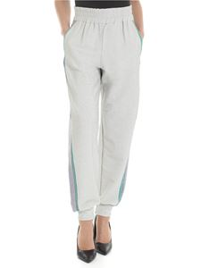 Blugirl - Jogging trousers in silver lamé