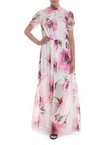 Blugirl - Floral dress in white and pink