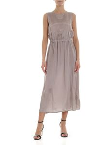 Peserico - Mid-length viscose dress in black and beige