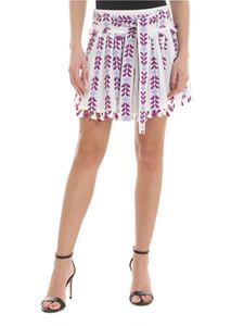 DODO BAR OR - Ariana skirt in white and purple