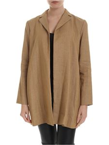 Theory - Overlay jacket in camel brown