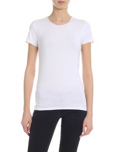 Majestic Filatures - T-shirt in white with golden lamé edges