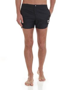 Karl Lagerfeld Beachwear - K/Ikonik boxer swimsuit in black