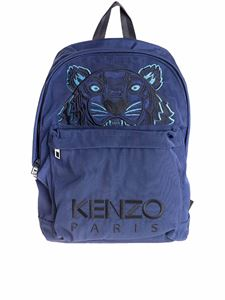 Kenzo - Tiger backpack in blue