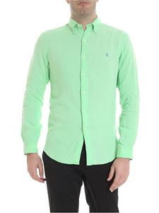 Ralph Lauren - Embroidered logo shirt in green