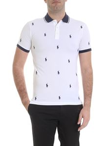 POLO Ralph Lauren - All-over logo polo in white