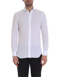 Barba - Linen shirt in white