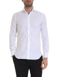 Barba - Cotton shirt in white