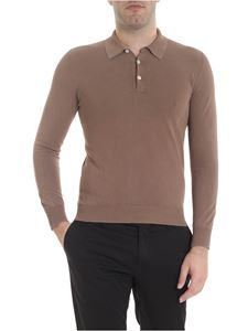 Boglioli - Long-sleeved polo in brown