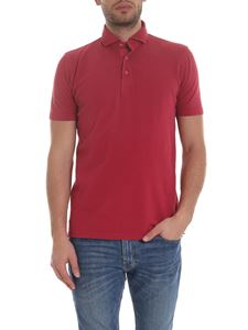 Barba - Lightweight cotton polo in red
