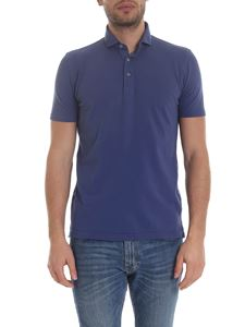 Barba - Lightweight cotton shirt in air force blue