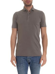 Barba - Lightweight polo in mud color
