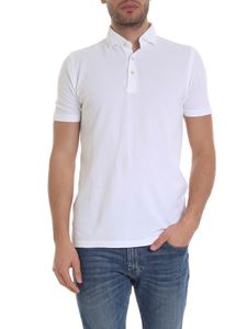 Barba - Polo in white cotton piqué