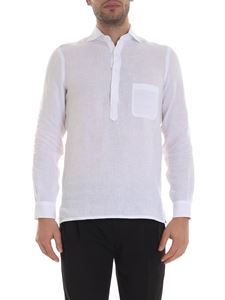 Barba - Serafino shirt in white with pocket
