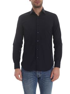 Barba - Stretch cotton shirt in blue