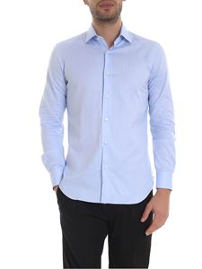 Barba - Cotton shirt in light blue