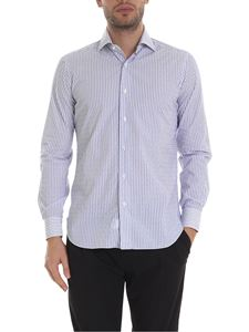 Barba - Striped shirt in white and blue