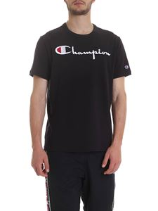 Champion - T-shirt in black with logo embroidery