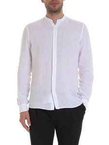 Fay - Mandarin collar shirt in white