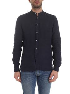 Fay - Mandarin collar shirt in blue