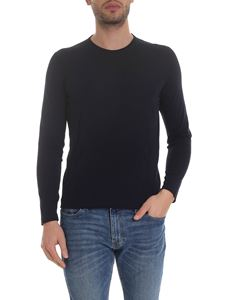 Corneliani - Pullover with diamond pattern in blue