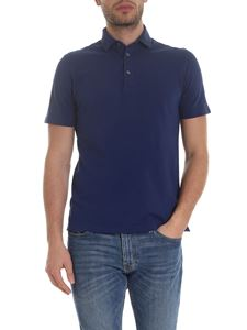 Drumohr - Lightweight cotton polo in blue
