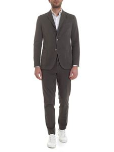 Boglioli - Three-button cotton suit in anthracite-color