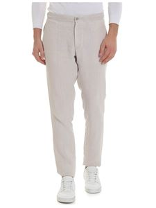 Boglioli - Trousers in beige with drawstring